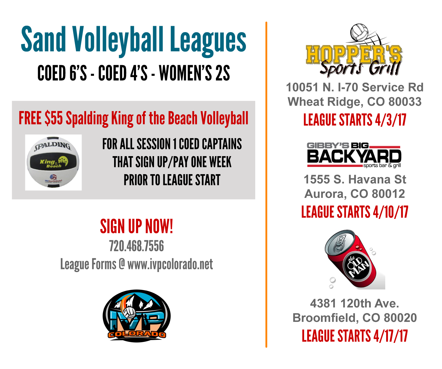 IVP Sand Volleyball Leagues Session 1