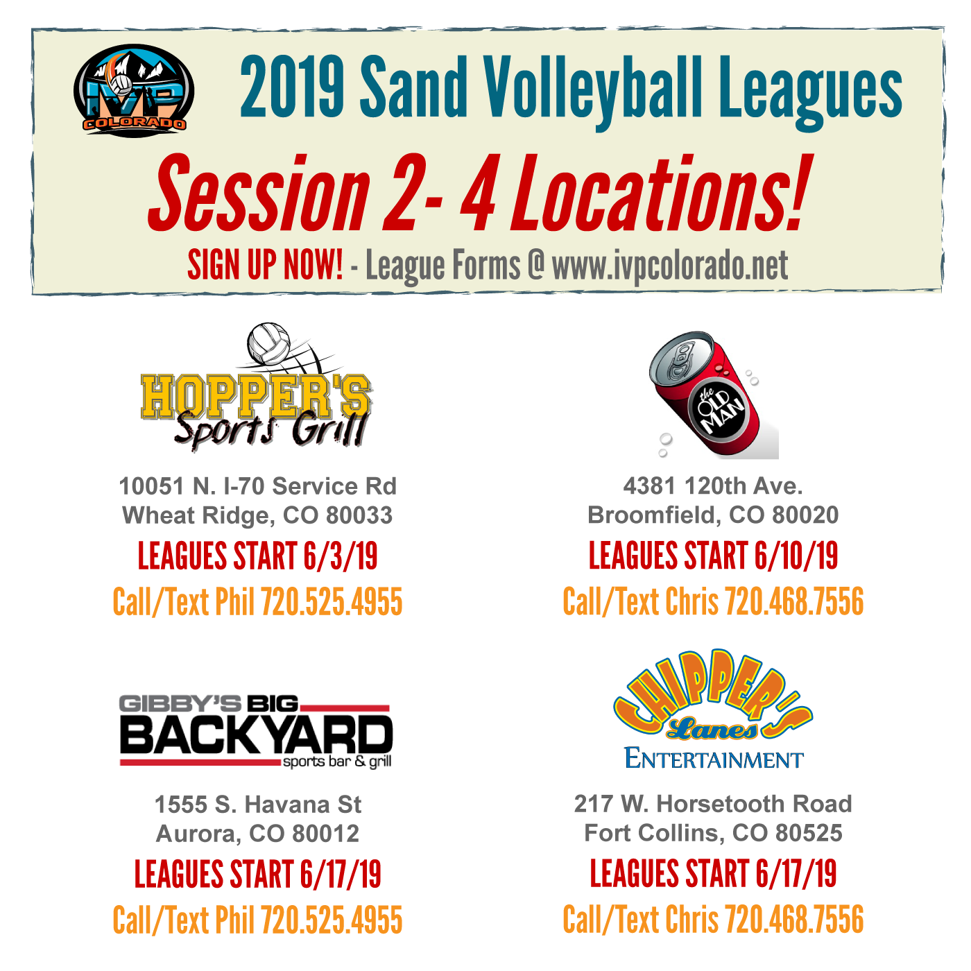 2019 IVP Sand Volleyball Leauges Session 2